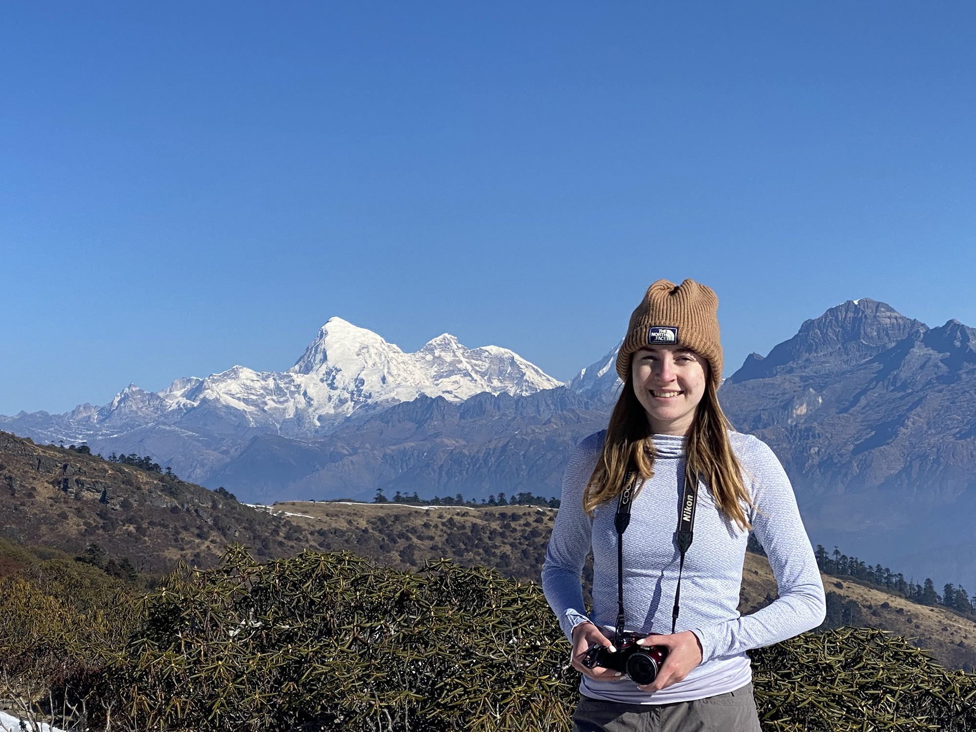 LSA senior Kayleigh Crabb in Paro, Bhutan. Image credit: Personal Archive