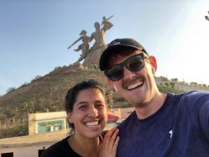 LSA senior Sophia Filipe pictured in front of the African Renaissance Monument in Senegal, Dakar. Image credit: Personal Archive