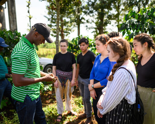 U-M Engineering students visit DeMan Coffee plantation in Nkubu, Kenya. Image credit: Austin Thomason, Michigan Photography