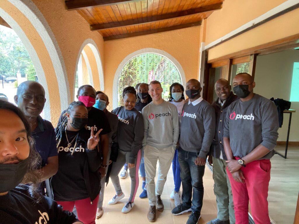 Peach Team in Kenya.