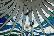 Inside the Cathedral of Brasilia