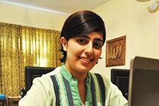Coursera student Mehreen Tahir in Pakistan.