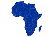 Map of Africa, image courtesy of wikimedia.org.