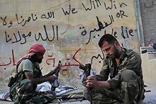 Photo of Syrian rebels. Credit: Scott Bobb, VOA News.
