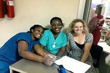 Sue Ann Bell with Ghanaian colleagues.