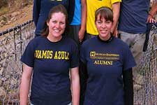 U-M students build a bridge in Bolivia.