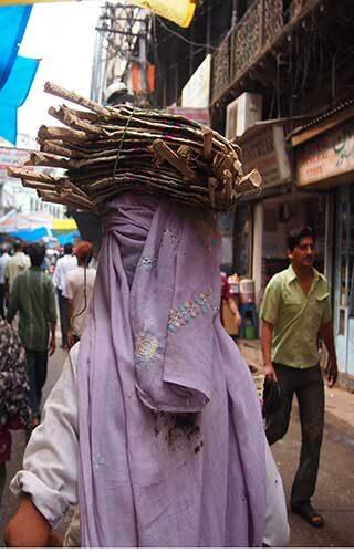 A woman in Delhi, India.
