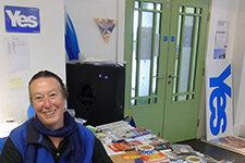 History professor Kali Israel in Scotland.
