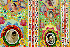 The side of a truck decorated in Pakistani style. (Courtesy: Osman Khan)