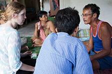 Graduate student Kate Helmick researches arsenic poisoning in Thailand.