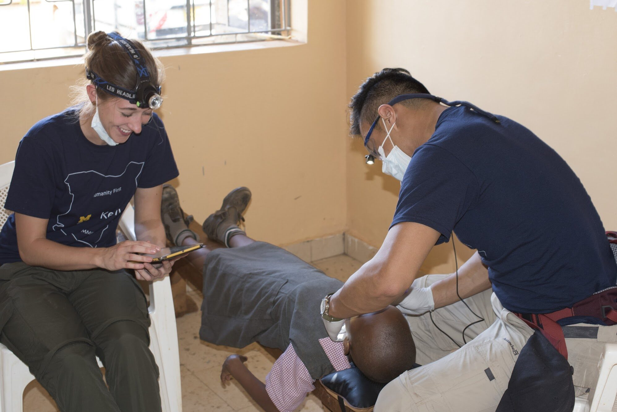 Students from the School of Dentistry taught kids basic oral hygiene and performed preventive dental treatments, like cleaning, sealing and applying fluoride. Image credit: Global Initiatives in Oral and Craniofacial Health